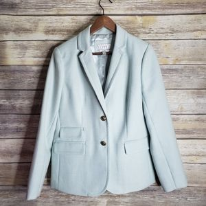 J.crew light mint green hacking blazer